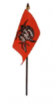 Pirate Red Skull Hand Flag - Small.